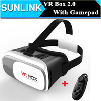 Wholesale 2016 VR BOX II Version D Glasses VR Virtual Reality Google Cardboard Smart Bluetooth Wireless Mouse Remote Control Gamepad