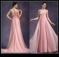 best junior dresses - Best Selling Pink Chiffon Empire Evening Dresses For Pregnant Women V Neck Long Women Prom Formal Dress Junior Bridesmaid Gowns Custom