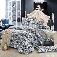 cozy - New Discount Bedding Set Cotton Zebra stripe Cozy Quilt Duvet Cover Set Home Textiles for sale