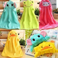 Wholesale Soft Cartoon Animal Nursery Child Hanging Wipe Plush Fabric Toilet Bathing Towel