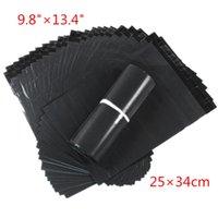 achat en gros de sacs poly 25-100pcs / lot 25 * 34cm Dark Grey Poly diffusion des sacs en plastique enveloppe express Sacs sacoche Haute Qualité gratuit