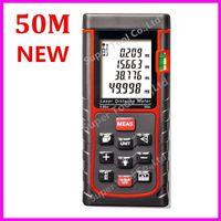 Wholesale m ft RZ50 Laser distance meter Bubble level Rangefinder Range finder Tape measure Area Volume M Ft in Tool