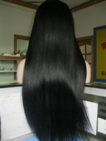 full lace wigs for black women - Customised yaki straight virgin Malaysian hair full lace wigs for black woman density