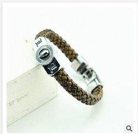 Cheap FREE SHIPPING Christmas gift Cartoon bracelet Movie TV anime cosplay logo Death Note L.LAWLIET logo pendant leather wristband C1460 50pcs