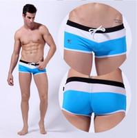 Wholesale New Arrival Mens Swimwear Fashion Men s Swimming Trunks Sexy Shorts Boxers Sports Swim Suit Splice Men Swimsuit Beach Wear Man Trunks