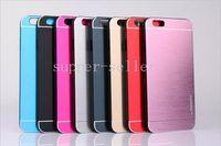 aluminium skin iphone - iPhone cases MOTOMO Metal PC Case For iPhone plus Colorful Brushed Pattern Cover Slim Aluminium Alloy Back Skin