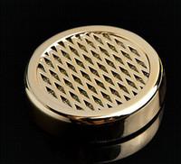 cigar humidor - New Round Plastic Tobacco Smoking Cigarette Cigar Humidor Humidifier Color Glod Cigar smoking tool