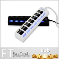 Wholesale 2015 Computer Peripherals Hub Usb Switch Lamp USB High Speed Port USB HUB DHL