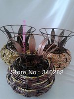 antique metal vases - rattan iron flower series of antique home balcony decoration basket vase for flower
