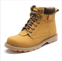 Wholesale Genuine Leather boots winter boots ankle boots man snow boots men shoes casual Martin boots Outdoor Waterproof fashion work safety boots