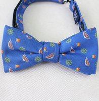 advanced export - Advanced custom tie exports of the original single men s business suits tie wedding blue embroidery small sailboat