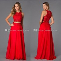 Cheap two pieces Prom dresses Best Chiffon Two Pieces Prom dresses