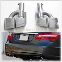exhaust pipe for muffler - AMG LOGO Car Silencer Stainless steel Exhaust Pipe Muffler Burn Tips For BENZ W212 E200 E260 E300 AMG