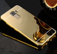 alloy bumpers - Ultra thin Aluminum Alloy Bumper Case Mirror PC Back Cover For Huawei honor i c a x