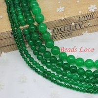 green jade stone - mm Dark green Jade Round Loose Stone Beads AAA quot strand Pick Size F00018