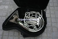Wholesale key Double French Horn Silver Lacquer F Bb Brass body with case