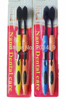 Wholesale 1PC nano bamboo Anion Charcoal health dual adult black toothbrush good