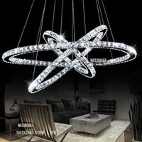 arts diamond pendant - Hot Selling Diamond Ring Crystal Light Fixture LED Pendant Light suspension Lumiere Modern LED Lighting Circles Lamp CE ROHS Freeshipping