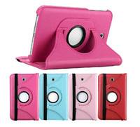 Wholesale for Samsung Galaxy Tab T230 T231 T235 case Litchi grain c Rotatable PU leather case cover