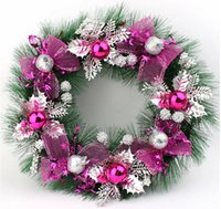 christmas wreath ring - Colorful Christmas Wreath Garland Christmas Decoration Supplies Christmas Tree Decorative Flowers Ring Home Door Claus Ornament