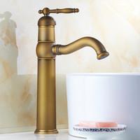 antique brass bathroom faucets - Bathroom Faucet Deck Mounted sink Bathroom Mixer Tap antique brass Single handle basin faucet single hole basin tap F108