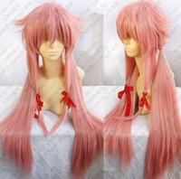 al por mayor yuno peluca cosplay gasai-¡Venta caliente !!! El envío libre de Mirai Nikki Gasai Yuno Cosplay Wig + gift de las nuevas muchachas de las mujeres libera el envío