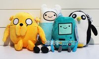adventure time beemo - 4pcs set Adventure time Plush Toys Jake Finn Beemo BMO Penguin Gunter Stuffed Animals Plush Dolls Soft Toys newest
