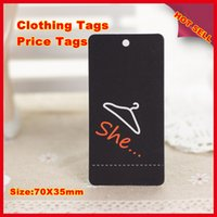 tags for clothing - 1000PCS Hot sell hang tags300g sqm paper clothing tag without lamination suitable for writing words
