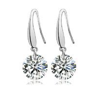 Cheap iice AAA fashion zircon earrings standard 925 sterling silver earrings professional free shipping silver jewelry wholesale sales NO 224