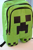 Wholesale quot Hot selling quot Minecraft Backpack Minecraft Creeper Backpack School Bags Green Color IN STOCK Same day