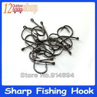 Wholesale 20PCS Size mm mm Thick Strong High Carbon Steel Chemical Sharpened Barbed Fish Hook Carp Fishing Hooks Fishing Tackle
