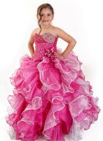 Cheap Beaded Flower Girl Dress Best Girls Pageant Dresses