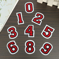 arabic patches - Arabic Numbers Embroidered Patches DIY Handmade Decor Applique Fabric Stickers Sew Iron For Bags Clothes Caps