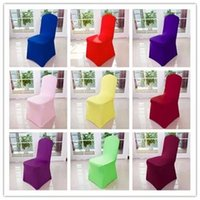 Wholesale Universal Polyester Wedding Party Stretch Chair Covers Multi Color Spandex Lycra Chair Cover For Weddings Party Hotel Banquet