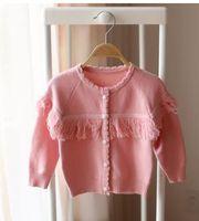 Wholesale 2016 new children girl spring tassel sweaters cardigan new children sweater