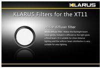 Wholesale KLARUS XT11 Flashlight White Lens Diffuser Filter