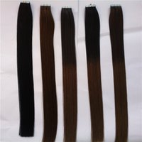 cold fusion hair extensions - New Fashion Keratin Cold Fusion Seamless Skin Weft Hair Extension Pcs100g Straight Remy Tape Hair Extensions