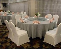 Cheap Universal White Polyester Spandex Wedding Chair Covers for Weddings Banquet Folding Hotel Decoration Decor Various colors