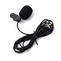 Wholesale Hot Sale Hz15000Hz Collar Mini mm Black Tie Lapel Lavalier Clip Microphone Rushed For Lectures Teaching Useful