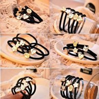 Wholesale 10 Fashion Girl Elastic Hair Rubber Band Rope Scrunchie Ponytail Holder Bands