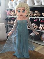 Wholesale new style Elsa mascot costume cartoon princess elsa performing costumes walking mascot costumes for adult size