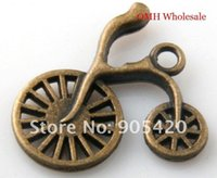 bicycle bracelet sale - OMH Free ship bronze bicycle charms pendants necklace Bracelets charms X23mm DZ51 Hot sale Free ship