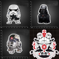 Wholesale 8deisngs Star Wars Stormtrooper Suitcase wall stickers home decor PVC stickers Waterproof party decorations ipad M car stickers