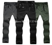animal ski trousers - Outdoor Sports Mens WaterProof Wind Stopper Pants Trousers Soft Shell Sports Pants For Skiing Hiking Camping Climbing Sports