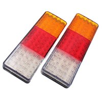 Wholesale Pair V LED Rear Tail Indicator Stop Lights Taillight Truck Lamp E Marked E4