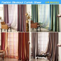 Wholesale Fashion Blockout Thick curtain m Living room Bed room Window sheer curtain semi shade tulle sheer