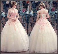Wholesale Sweet Year Dresses Sweetheart Sleevless Ball Gown Prom Dresses with Lace Applique Flowers Tulle Lace up Evening Wear Dresses
