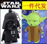 Wholesale Star Wars Galactic BattleGrounds music keychain Saga Darth Vader Jedi Outcast LED Luminous keychain keyrings Chain Key Pendant