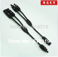 Wholesale pairs MC4 Parallel connector Adapter M2F M1F TUV certification Y Branch