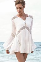 hawaiian dresses - NEW Fashion Summer Women Beach Dress Sexy Hawaiian Dresses beachwear Casual Bell Sleeve Beach Tunic Beach Output